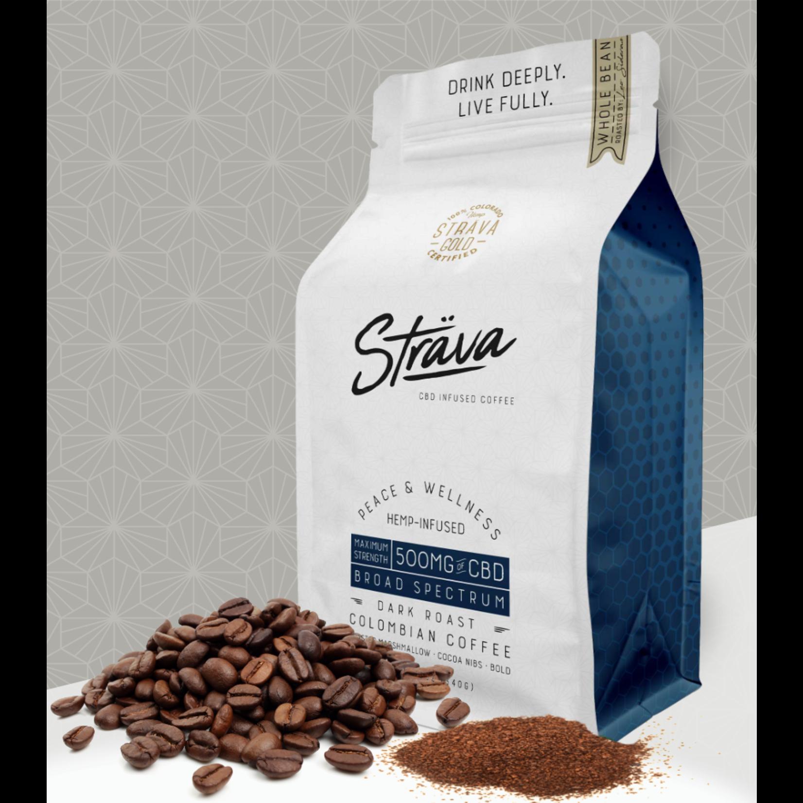 Strava Strava CBD Infused Coffee 500mg Broad Spectrum dark Roast Single Serve Keurig cup maximum Strength Columbian coffee