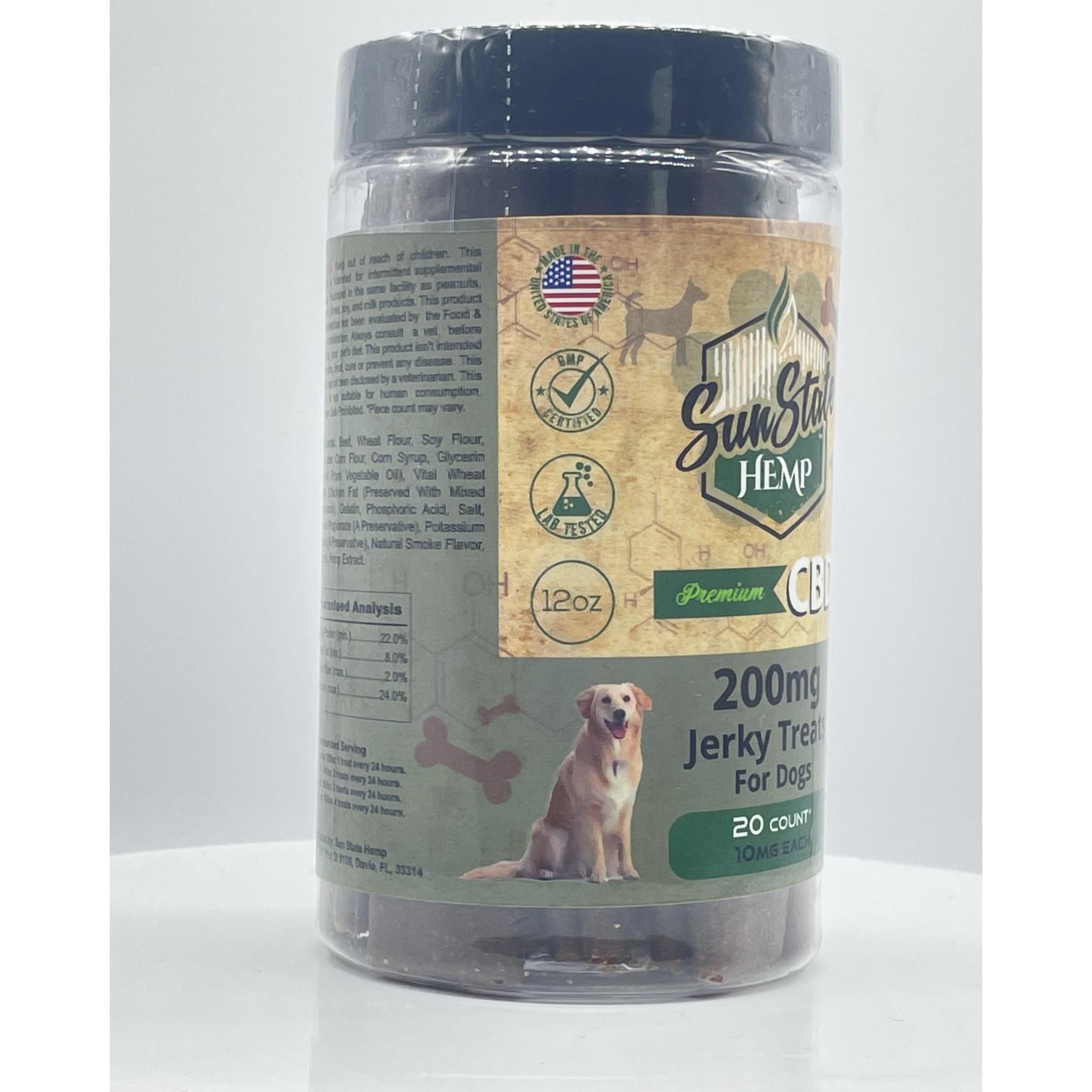 Sun State Hemp SSH CBD Jerky Dog Treats 200mg