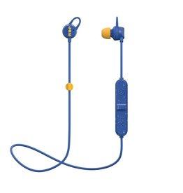 Jam Jam HMDX Audio Live Loose Sweat Resistant In Ear Bluetooth Headphones - Blue and Yellow