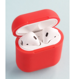 HiQ HIQ AirPlus AirPods Protective Case Qi Wireless Charging + Wireless Charger - Soft Red