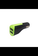 Goui Goui Car Charger 2-USB, Output 3.1A - Black