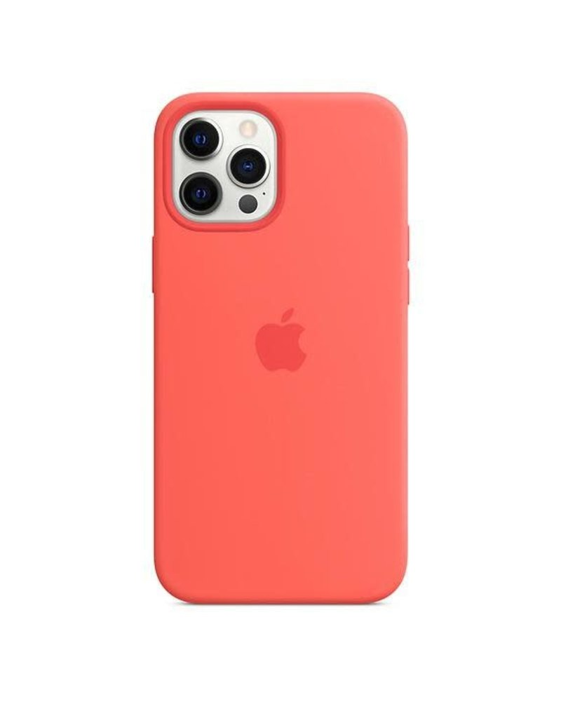 Apple Apple iPhone 12 Pro Max Silicone Case with MagSafe - Pink Citrus