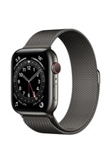 Apple Apple Watch Series 6 GPS + Cellular, 44mm Graphite Stainless Steel Case with Graphite Milanese Loop