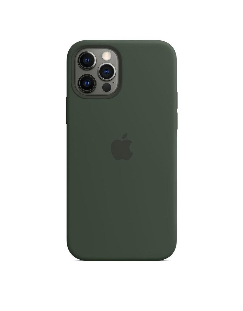 Apple Apple iPhone 12   12 Pro Silicone Case with MagSafe - Cyprus Green