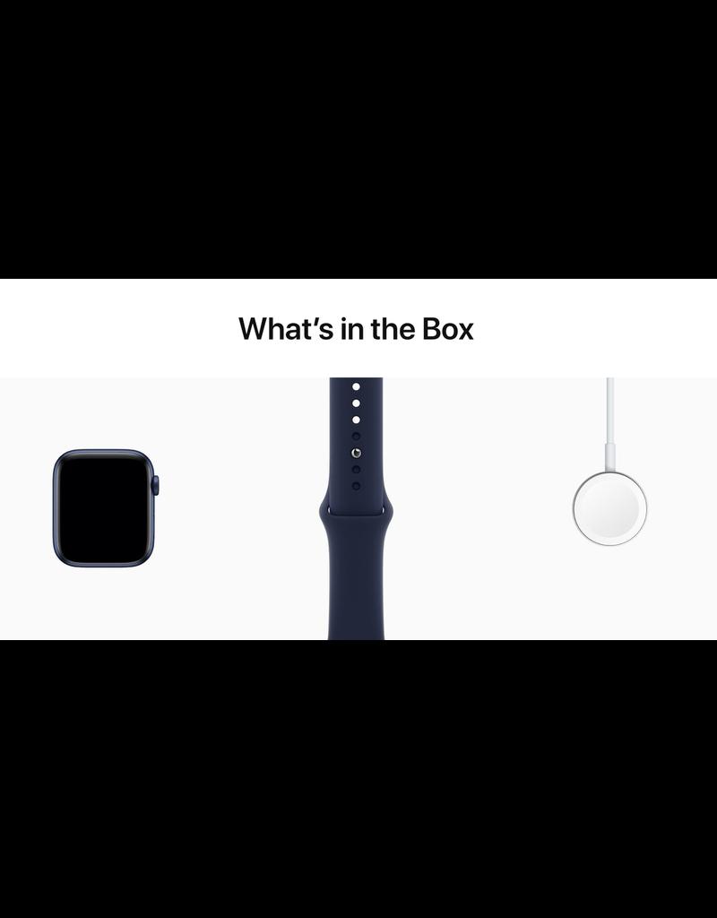 Apple Apple Watch Series 6 GPS, 44mm Aluminum Case with Deep Navy Sport Band - Navy Blue