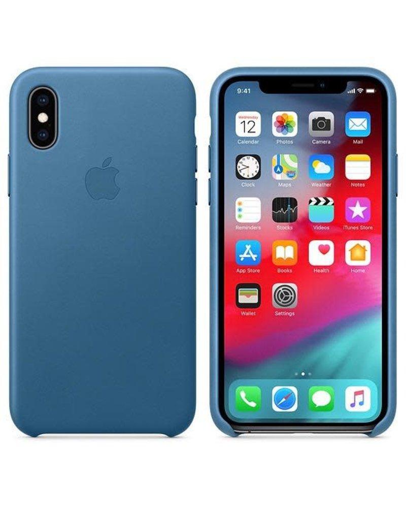 Apple Apple iPhone Xs Leather Case - Cape Cod Blue