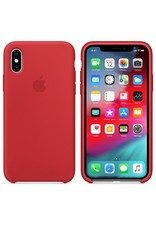 Apple Apple iPhone X Silicone Case - Red