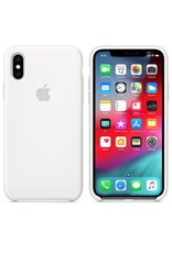 Apple Apple iPhone X Silicone Case - White