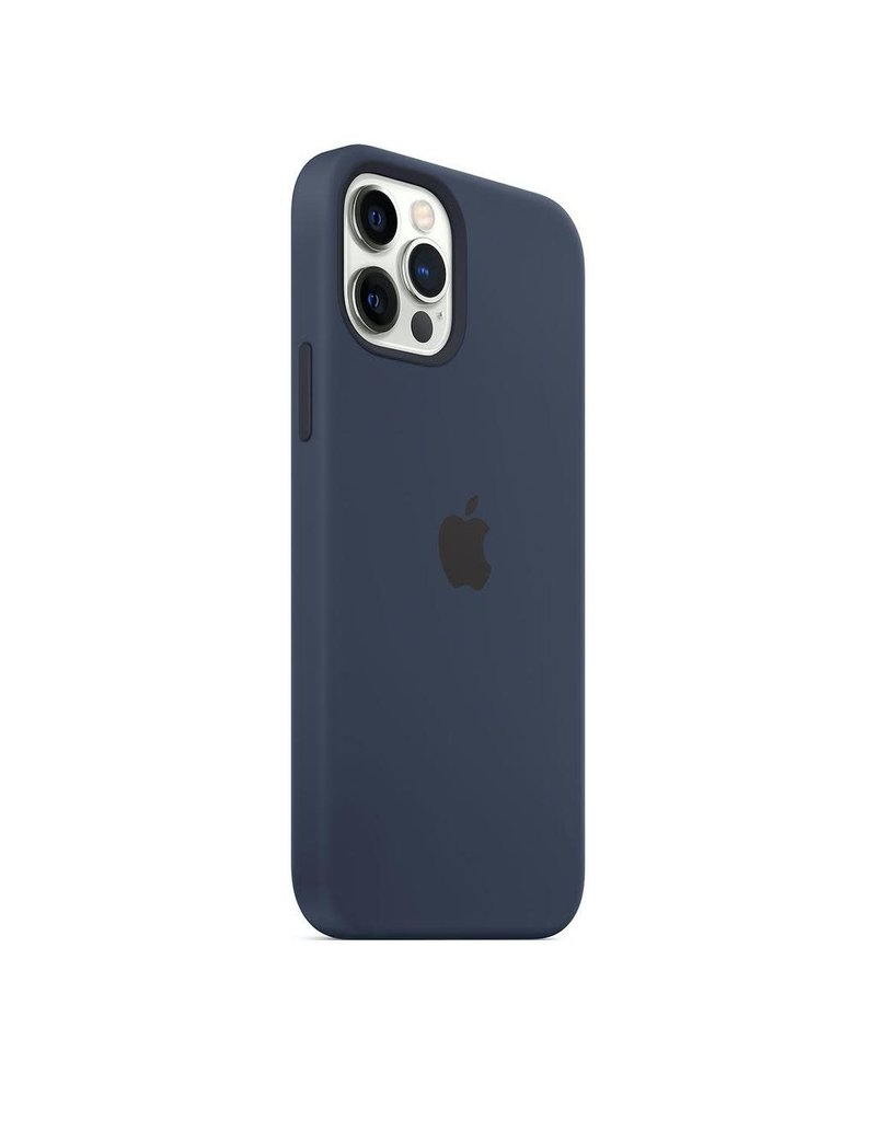 Apple Apple iPhone 12   12 Pro Silicone Case with MagSafe - Deep Navy
