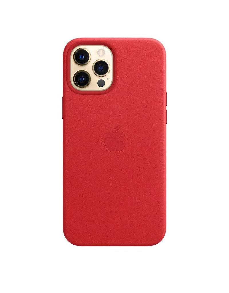 Apple Apple iPhone 12 Pro Max Leather Case with MagSafe - (Product) Red