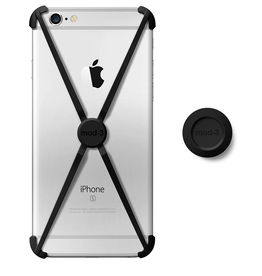 Mod-3 Mod-3 Alt Case With Matching Color Wall Mount For iPhone 6/6s - Black