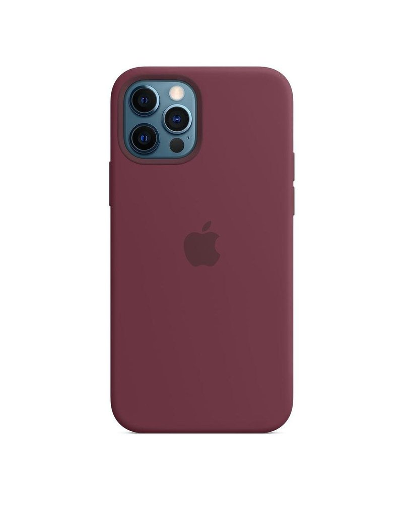 Apple Apple iPhone 12   12 Pro Silicone Case with MagSafe - Plum