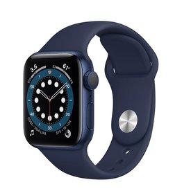 Apple Apple Watch Series 6 GPS, 40mm Aluminum Case with Deep Navy Sport Band - Navy Blue