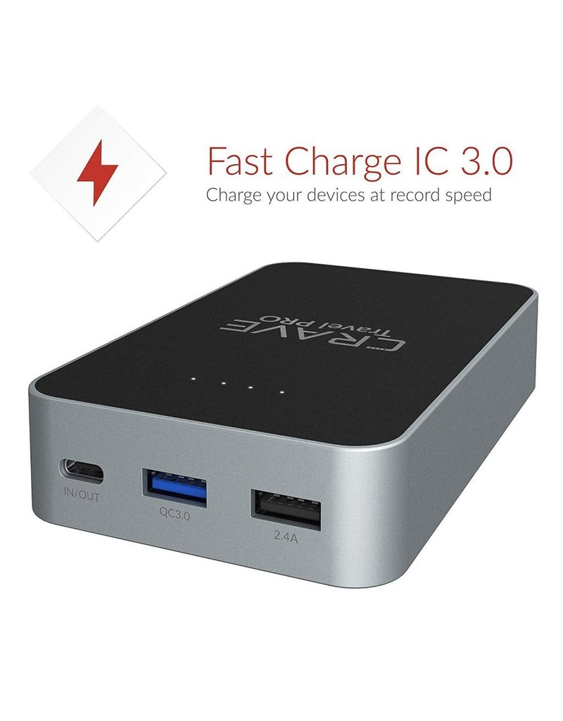Crave Crave Travel Pro 13400 mAh Power Bank [Quick Charge QC 3.0 USB + Type C with PD]