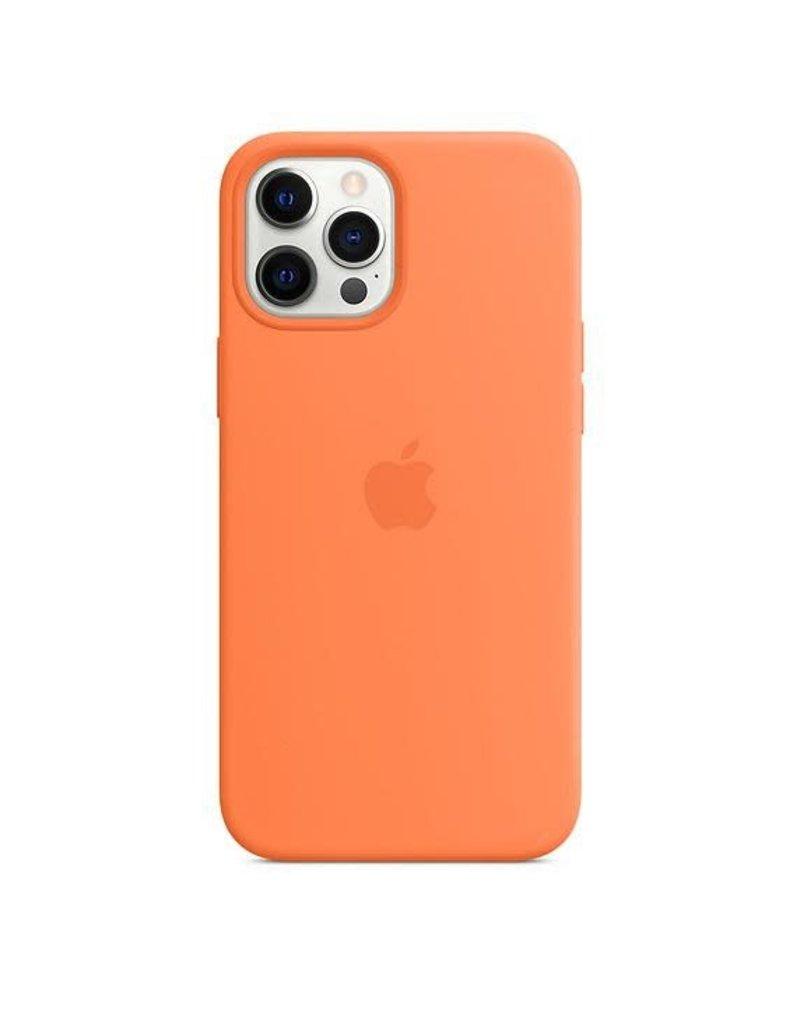 Apple Apple iPhone 12 Pro Max Silicone Case with MagSafe - Kumquat