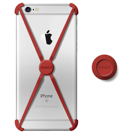 Mod-3 Mod-3 Alt Case With Matching Color Wall Mount For iPhone 6/6s - Red