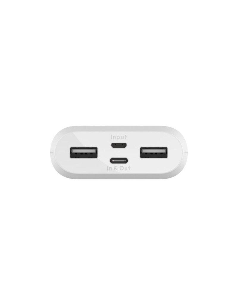 Belkin BoostCharge 10k Multi Port Power Bank (15W USB-C) - White