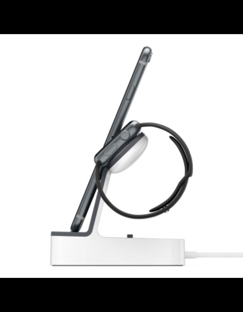 BELKIN Belkin Powerhouse Charge Dock For Apple Watch + iPhone - White