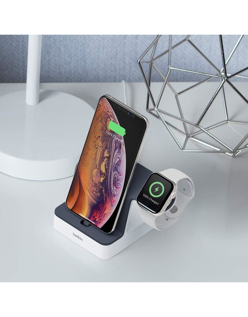 Belkin Powerhouse Charging Dock for Apple Watch and iPhone 3.4A - Black