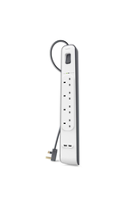 Belkin 4 Way Surge Protection Strip 2M With 2 USB Charging