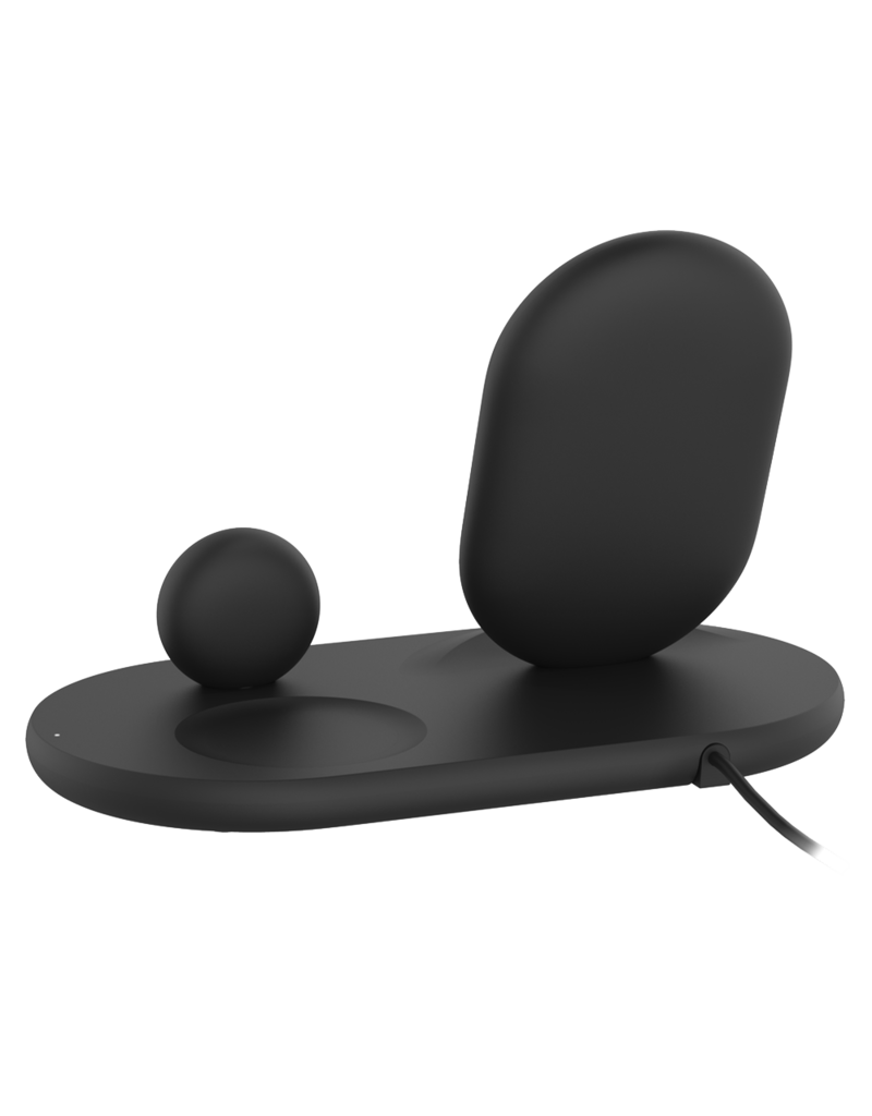 Belkin Boot Charge 3-in-1 Wireless Charger for Apple Devices - Black