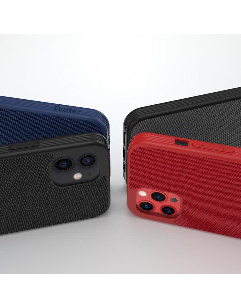 Evutec Evutec Ballistic Nylon Aergo Series Case With Afix for iPhone 12 / 12 Pro - Red