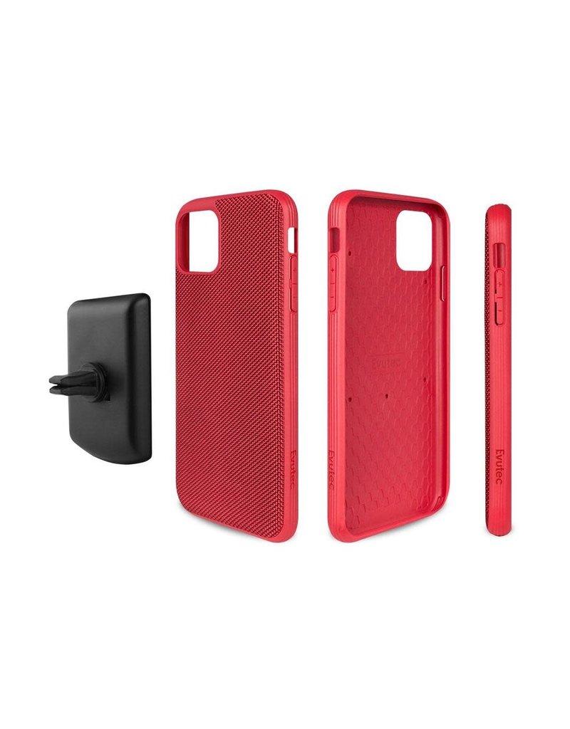 Evutec Evutec Ballistic Nylon Aergo Series Case With Afix for iPhone 11 Pro Max - Red