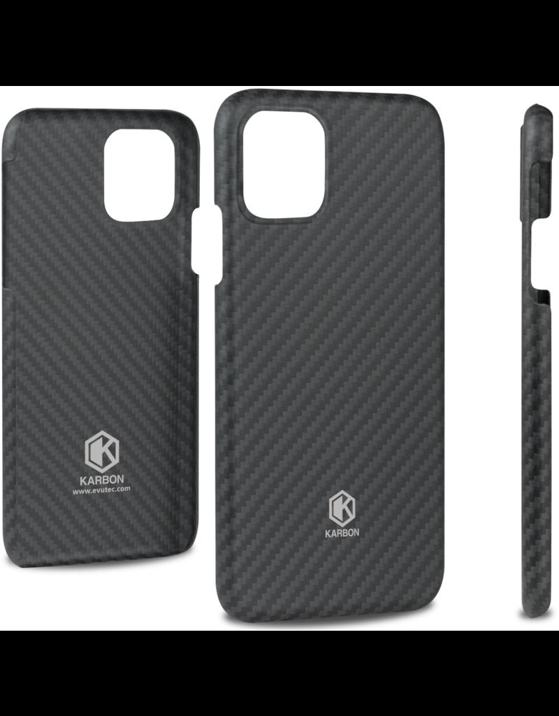 Evutec Evutec Karbon Value Thin Series 0.7mm Aramid Fiber Case for IPhone 11 - Black