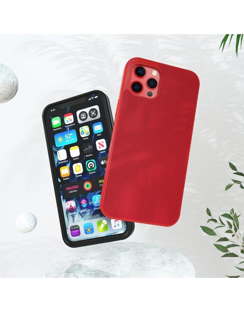 Evutec Evutec Ballistic Nylon Aergo Series Case With Afix for iPhone  12 Mini - Red
