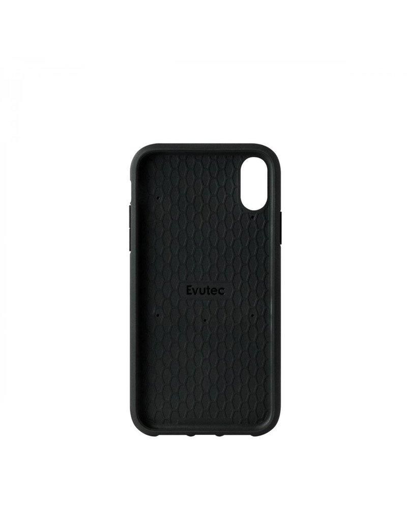 Evutec Evutec Ballistic Nylon Aergo Series Case With Afix for iPhone Xr - Black