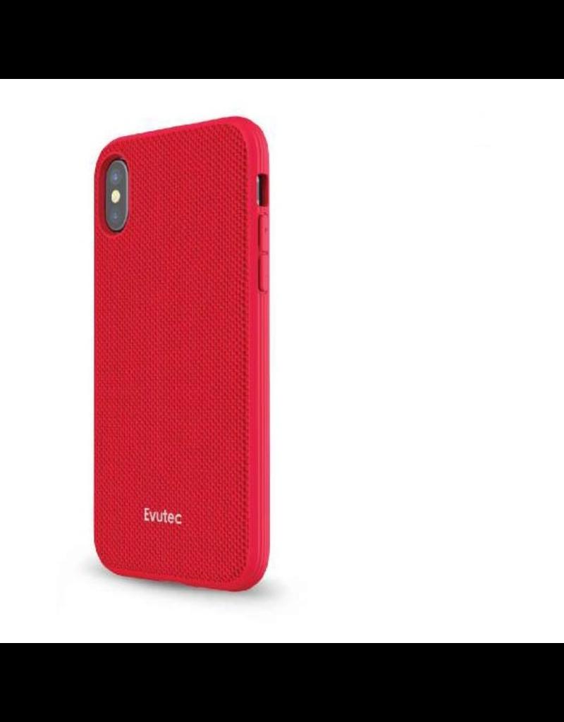 Evutec Evutec Ballistic Nylon Aergo Series Case With Afix for iPhone X/Xs - Red