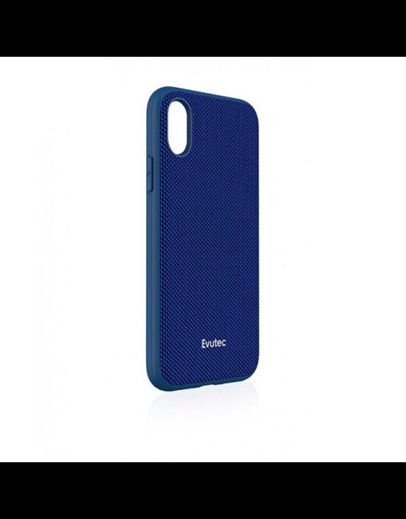 Evutec Evutec Ballistic Nylon Aergo Series Case With Afix for iPhone X/Xs - Blue