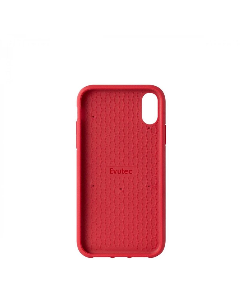Evutec Evutec Ballistic Nylon Aergo Series Case With Afix for iPhone Xr - Red