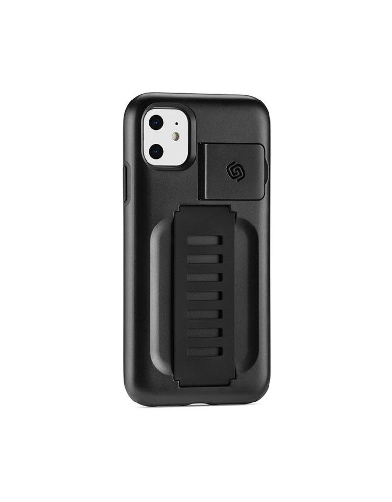 Grip2u Grip2u Boost Hand Grip with Kickstand Case for iPhone 11 - Charcoal
