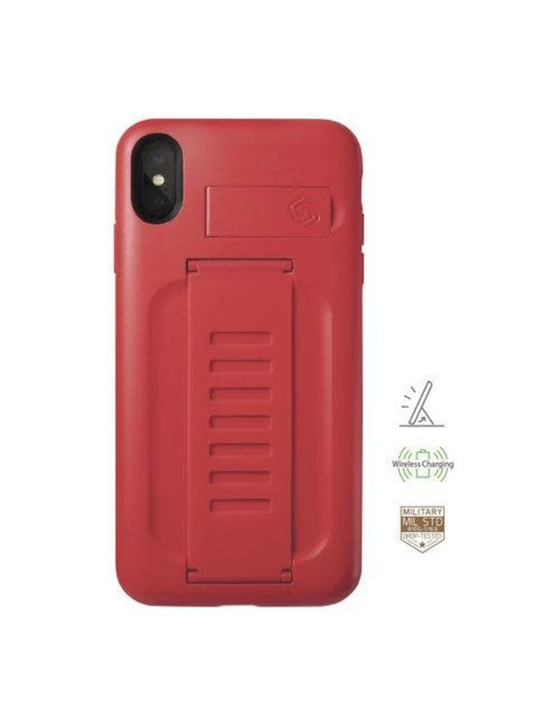Grip2u Grip2u Boost Hand Grip with Kickstand Case for iPhone Xs Max - Ruby