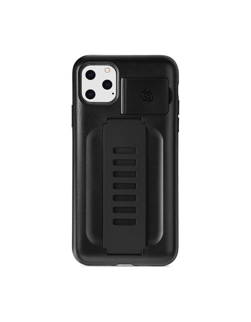 Grip2u Grip2u Boost Hand Grip with Kickstand Case for iPhone 11 Pro Max - Charcoal