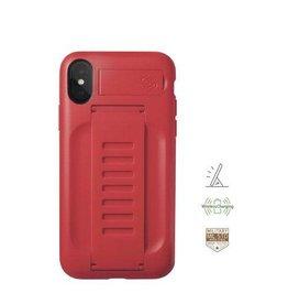 Grip2u Grip2u Boost Hand Grip with Kickstand Case for iPhone X/Xs - Ruby
