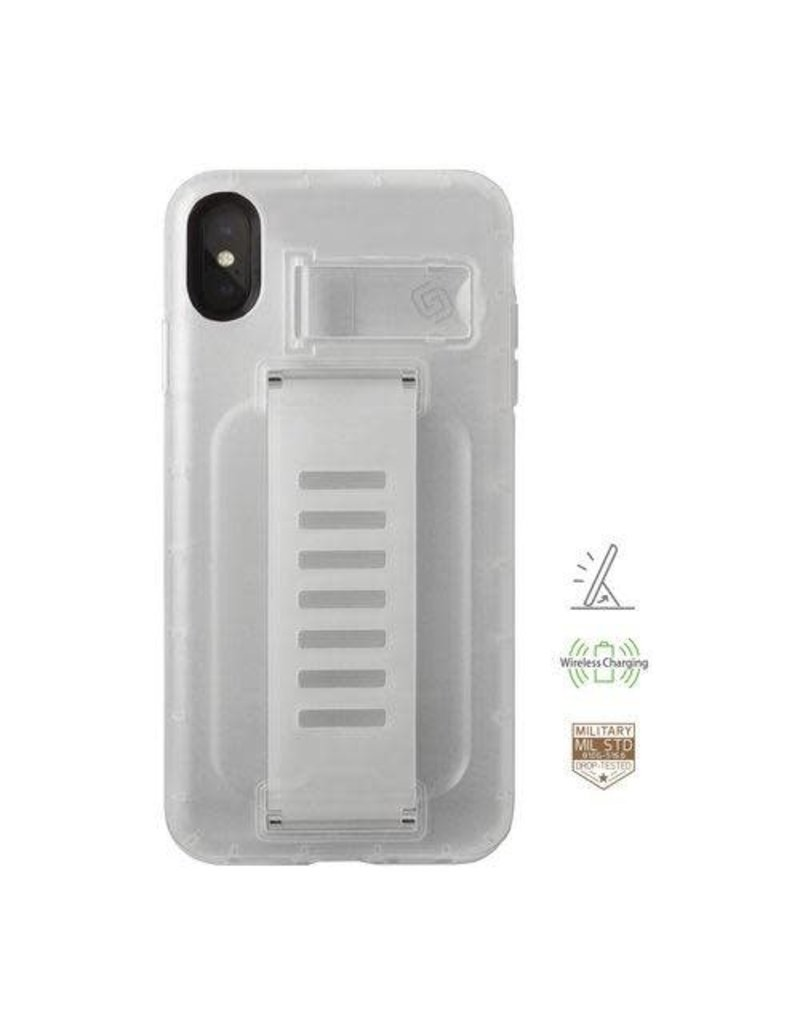 Grip2u Grip2u Boost Hand Grip with Kickstand Case for iPhone Xs Max - Clear