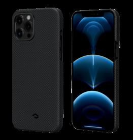 Pitaka Pitaka Aramid Karbon Fiber MagEz Case for iPhone 12 Pro Max - Black/Grey Plain