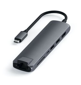 Satechi Satechi Type-C Slim HUB Multiport Adapter with Ethernet - Space Gray
