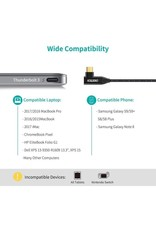 Choetech Choetech USB Type C to HDMI Fabric Braided Cable(Thunderbolt 3 compatible) -Black