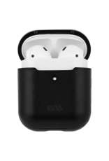Case Mate Case Mate Hook Ups Leather Apple Airpod Case and Neck Strap - Black