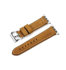 Bull Strap Bull Strap Genuine Bold Leather Strap for Apple Watch 44/42mm - Classic/Sliver