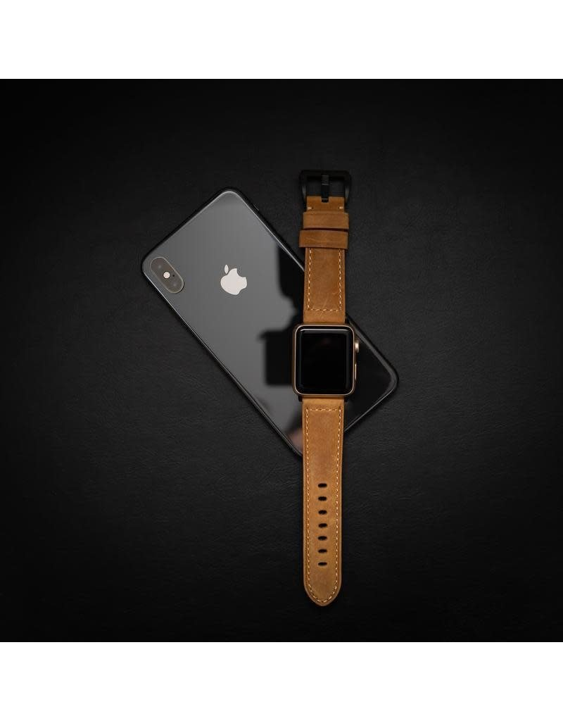 Bull Strap Bull Strap Genuine Bold Leather Strap for Apple Watch 40/38mm - Classic/Black