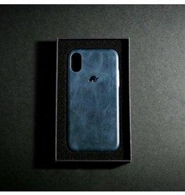 Bull Strap Bull Strap Genuine Bold Leather Case for iPhone Xs Max - Blu