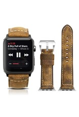 Bull Strap Bull Strap Genuine Bold Leather Strap for Apple Watch 44/42mm - Vintage/Silver