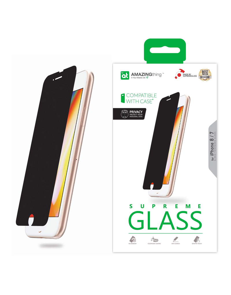 AMAZINGthing AT IPHONE 7/8 0.3MM 180' PRIVACY SUPREME GLASS