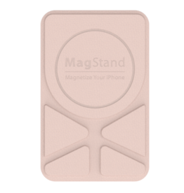 SwitchEasy SwitchEasy MagStand Leather Stand for iPhone 11 and 12 - Pink sand