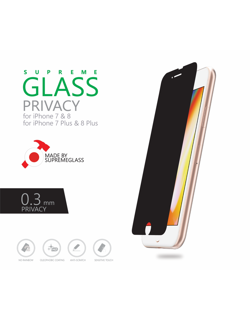 AMAZINGthing AT IPHONE 7/8 PLUS 0.3MM 180' PRIVACY SUPREME GLASS
