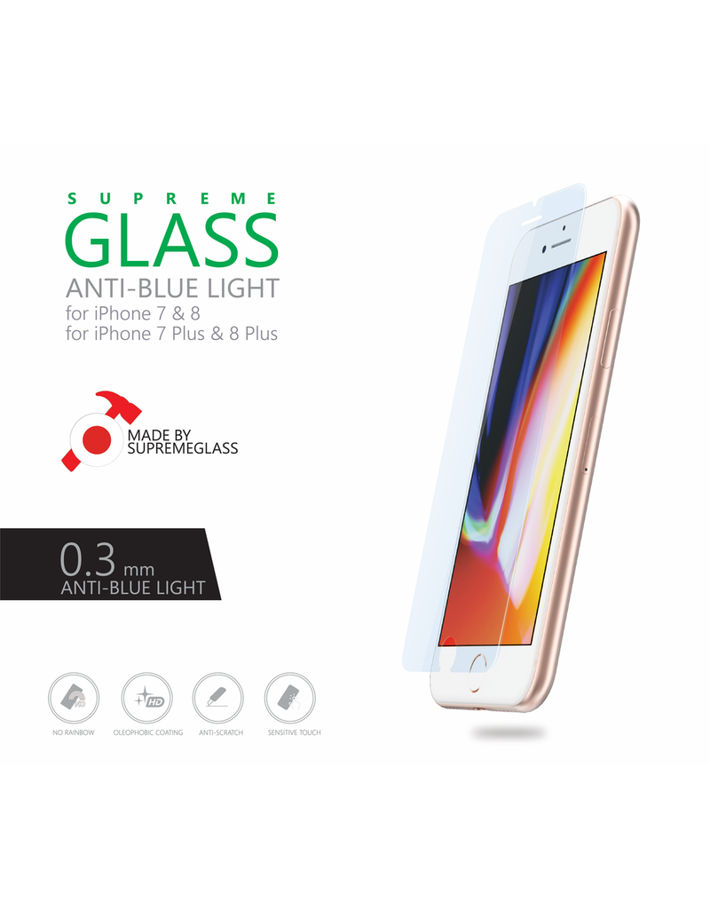 AMAZINGthing AT IPHONE 7/8 0.3MM ANTI-BLUE LIGHT SUPREME GLASS